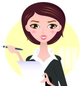 18688409-office-writing-woman-with-paper-note-illustration